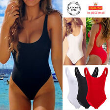 Womens Swimming Costume Backless One Piece Swimsuit Monokini Swimwear Bikini Set