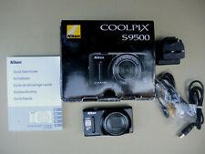 Nikon Coolpix S9500 appareil photo numérique 18 MP Wi Fi GPS Zoom 22x Boite