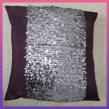 Rare Kylie Amethyst Pillow Bedding Purple Plum sequin bed luxury home feather