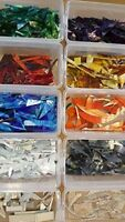 Stained Glass Tools and Supplies - 1kgs Glass Offcuts