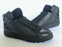 Coach Shearling High Top Black Leather Boots Brand New Free Shipping!