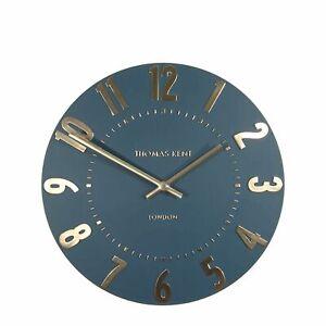 "12"" 30cm Mulberry Wall Clock Midnight Blue - Thomas Kent NEW"