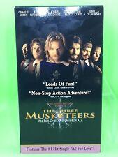 Walt Disney's: THE THREE MUSKETEERS VHS Charlie Sheen Keiffer Sutherland Chris O