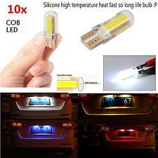 10x T10 194 168 W5W Silicone COB LED Wedge License Plate Light Bulbs Xenon White