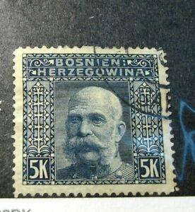 Bosnia & Herzegovina Stamp Scott# 45 Emperor Franz Josef 1906 H48