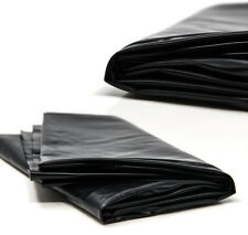 Black Wetlook PVC Style Waterproof Double Bed Sheet