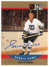 Gordie Howe Hartford Whalers Signed Autographed 1990-91 Pro Set Card #660
