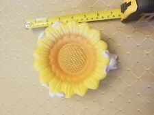 Easter Bunny Sunflower dish. Hand painted Porcelain