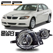 2006 2007 2008 BMW E90 E91 3 SERIES REPLACEMENT BUMPER CLEAR FOG LIGHTS PAIR