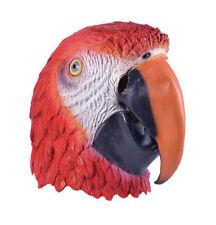 Unisex Parrot Mask Wildlife Fancy Dress Animal Funny Movie Cartoon Jungle Bird