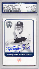 2001 Fleer Greats of the Game #33 Whitey Ford PSA/DNA Signed Auto HOF Yankees