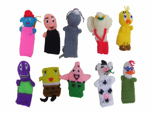 WHOLESALE LOT OF 500 FINGER PUPPETS