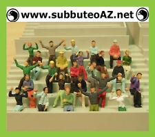 Subbuteo: Serie di 200 SPETTATORI DIPINTI in varie pose - PAINTED SPECTATORS ***