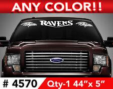 """BALTIMORE RAVENS WINDSHIELD DECAL STICKER 44""""x5"""" #4570"""