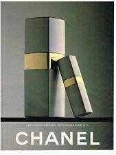 PUBLICITE ADVERTISING   1982    CHANEL vaporisateur rechargeable n19