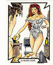 1989 COMIC IMAGES MARVEL TODD MCFARLANE CARD #32 MARY JANE