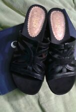 Chaps Penelope Black Slides Sandals Mules Shoes Womens Size 9.5 NEW in Box