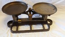 Vintage Double Beam Balance Brass Scale by OHAUS w/brass trays