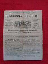 Tract Informatif Ecole Superieure professionnelle/FOURNES/pensionnat GOMBERT
