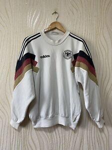 GERMANY 1990s FOOTBALL SOCCER SWEATSHIRT VINTAGE ADIDAS sz S MEN