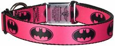 Buckle-Down DC-WBM002-L BMA Batman Black/Silver Dog Collar FREE2DAYSHIP TAXFREE