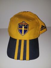 Pre-owned ~ S.F.F. Sweden National Football Adidas Yellow Football Team Cap