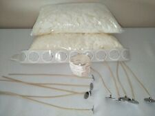 1kilo soy wax candle making kit wicks sticky tabs and safety stickers