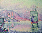 Antibes Paul Signac Landscape Ship Painting Print Canvas Giclee Reproduction SM