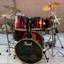 (RARE) EX PEARL DRUMSET (10 PCS) +all Accessories And Drumsticks (USED)