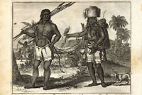 Antique Print-BRAZIL-INDIANS-COSTUME-DOG-Nieuhof-1682
