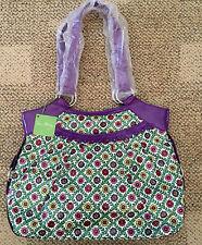 Vera Bradley Frill Viva La Vera Bridge Tote Shoulder Bag 11638-109 Purple Multi