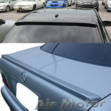 Mercedes Benz W210 4D Sedan E320 Rear Roof + Trunk Spoiler For Unpainted