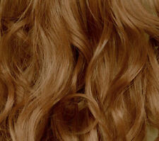 "22"" Clip in Hair Extensions CURLY Light Auburn FULL HEAD 8pcs"