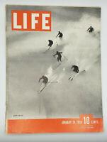 LIFE Magazine January 24, 1938 Down an Alps Skiers US News Sports Lifestyle Snow