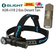 OLIGHT H2R Scheinwerfer 2300Lumen + I1R 2 Eos Desert Tan Rechargeable LED Light
