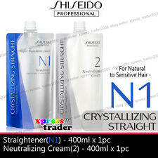 Shiseido Straight N1 + Neutralizer Cream For Natural to Sensitive Hair perm