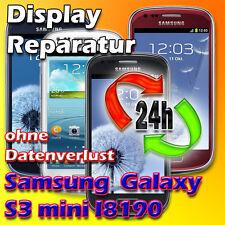 Display Reparatur Samsung Galaxy S3 Mini i8190 Glas Reparatur Weiß Vollverklebun