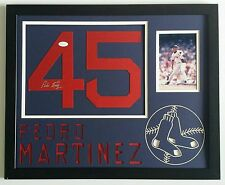 Pedro Martinez Signed Autographed Jersey Number Boston Red Sox Framed JSA