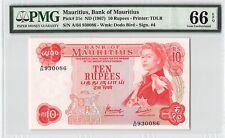 Mauritius ND (1967) P-31c PMG Gem UNC 66 EPQ 10 Rupees