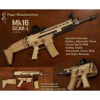 1:1 MK16 Paper Model Gun SOF Combat Assault Rifle SCAR DIY 3D Paper Mode U8_A
