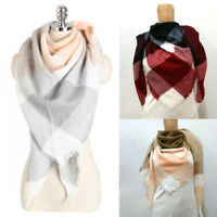 New Women Winter Classic Tartan Blanket Scarf Wrap Shawl Plaid Warm Fashion Gift