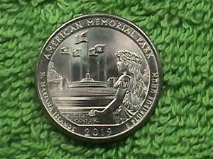 UNITED STATES 25 Cents 2019 P UNC AMERICAN MEMORIAL