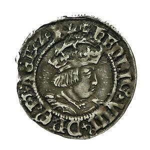 Henry viii hammered silver Halfgroat  Canterbury Mint  Archbishop Wareham  S2343