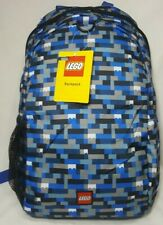Lego Backpack ~ Blue, Black & White Bricks ~ Hard To Find ~ Camo Blue Bricks