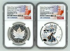 2019 PRIDE OF TWO NATIONS LIMITED EDITION COINS SET NGC PF 70 FIRST DAY OF ISSUE