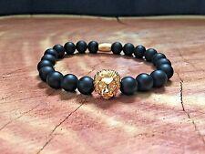 Men's Natural Black Onyx Gemstone Healing Bracelet 8mm Beads in USA