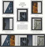 US MNH Stamps - Scott # 3379 thru 3383 - Strip of 5 + Singles - Louise Nevelson