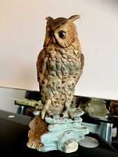 More details for large leonardo collection vintage pottery long eared owl ornament
