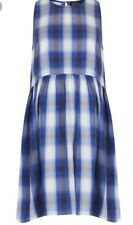 Topshop Blue Checked Dress Size 10