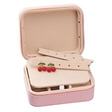 Jewelry Box Organizer Storage Case Ring Earring Necklace Pink for Girl Friend